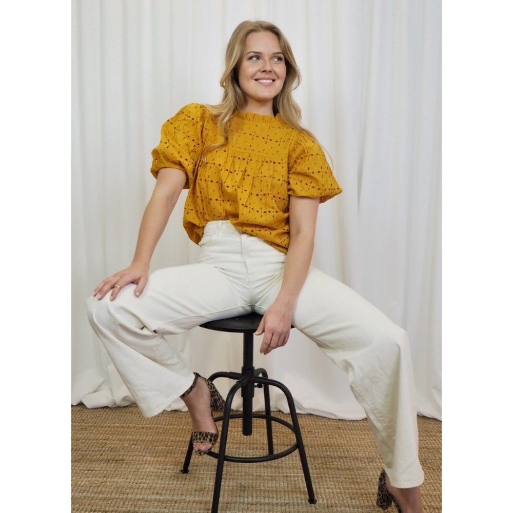 Orange Silvia blouse  MISSMAYA  Bluser - Dameklær er billig