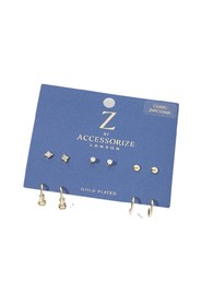 10X Stud And Hoop A J Z Earring