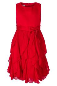 Rød penkjole