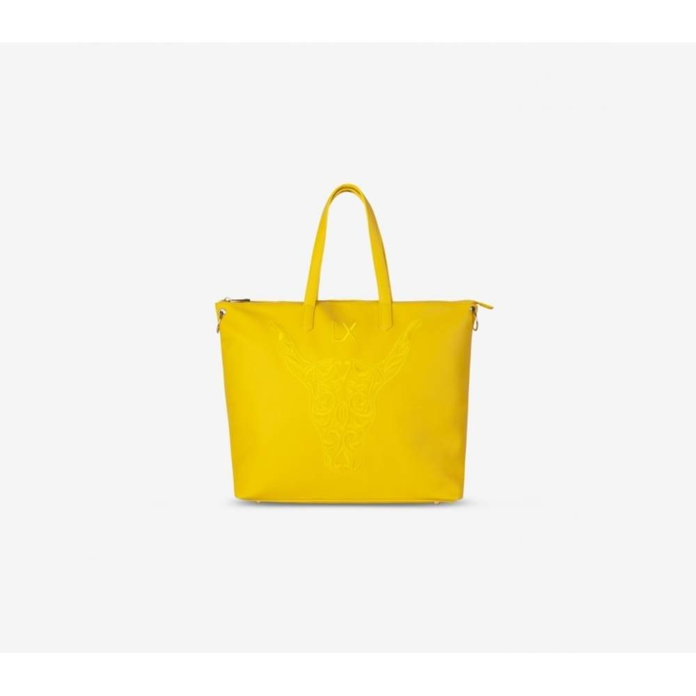 Fake leather shopper yellow - Alix the label