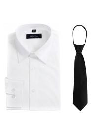skjorte med slips svart