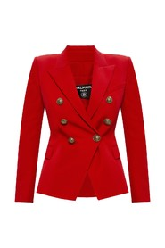 Wool blazer with logo
