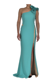 ONE SHOULDER LONG DRESS WITH SPLIT ON THE THIGH
