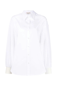 Button-up long-sleeve blouse