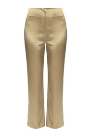 Satin trousers with slits