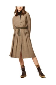 Dolores belted butonned dress