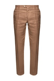 Linen trousers with logo