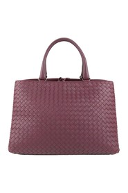 Intrecciato Leather Tote Bag