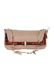 Leather Foldable Odysee Shoulder bag with Chain Strap