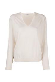 Strik V-hals sweater
