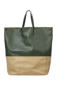 Two-Toned Cabas Tote