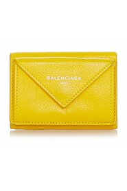 Pre-owned Papier Leather Compact Wallet