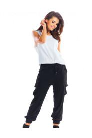 Spodnie bojówki z lejącej tkaniny A293