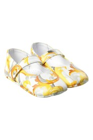 Barocco-print leather pre-walkers