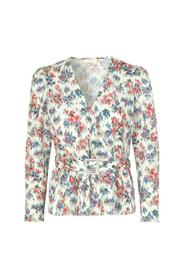 Shelly Flower Wrap Blouse
