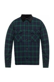 Insulated checked shirt