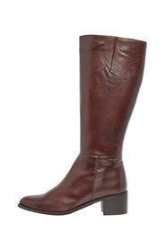 Leather boots Zip-up
