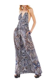 Kamala Medallion Print Maxi Dress