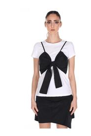 T-SHIRT WITH BOW TOP