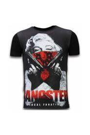 Gangster Marilyn - Digital Rhinestone T-shirt