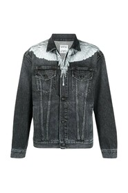 Wings Stonewash Slim Denim Jacket