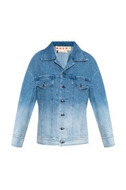 Denim jacket with ombre