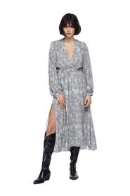 Vestido con estampado de cachemira