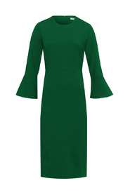 Volant Sleeve Dress Midi