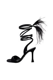 Feather leather sandals