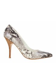 Snake Print Pointed Pumps