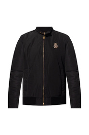 Jacket with band collar