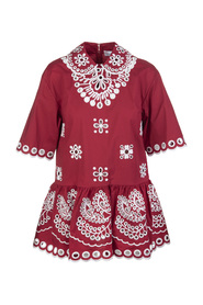 Top with sangallo embroidery