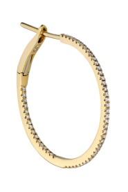 Medium diamond hoop, 18 carat gold