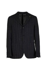 Pinstripe pattern two-button single-breasted jacket