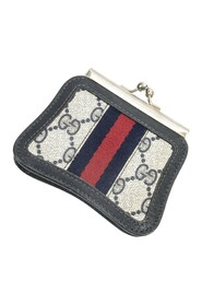 Pre-owned Accessory Collection Web Clasp Coin Pouch