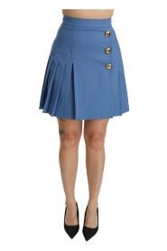 Pleated High Waist Mini Skirt