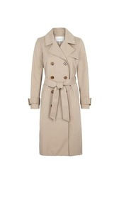 beige just female rhye trench coat