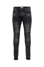 Slim fit jeans Spun biker black