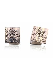 Sterling Silver Notes Script Square Cufflinks