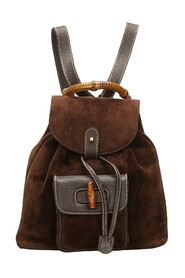 Bamboo Suede Drawstring Backpack