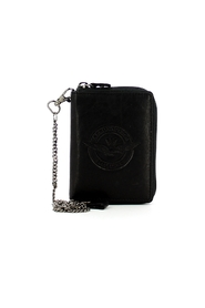Biker wallet with leather coin purse