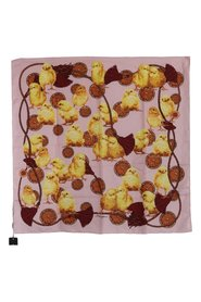 Baby Chick Tassel Silk Square Scarf