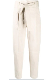 High-waisted tapered trousers