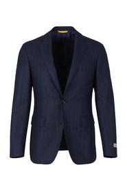 Spike and striped wool suit