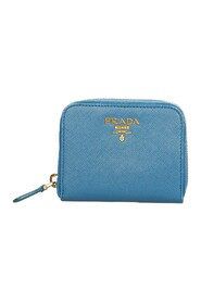 Pre-owned Saffiano Zip Around Coin Pouch
