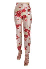 Brocade Trousers Pink Pants