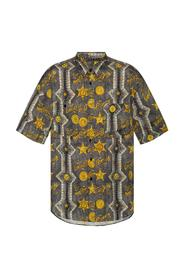 Shirt with a logo pattern