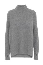 Cashmere oversized sweater, musegrå