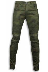 Slim Fit Zipped Biker Jeans