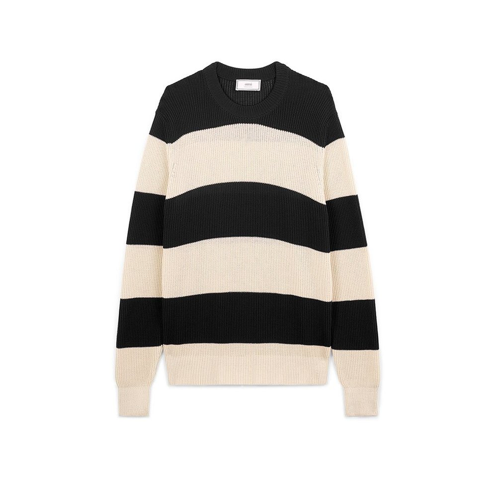 Crewneck Rugby Stripes Sweater